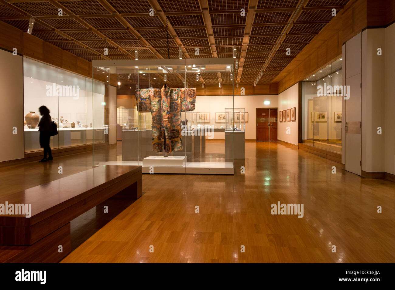 Asian gallery, Art Gallery of New South Wales, Sydney, New South Wales, Australia Stock Photo