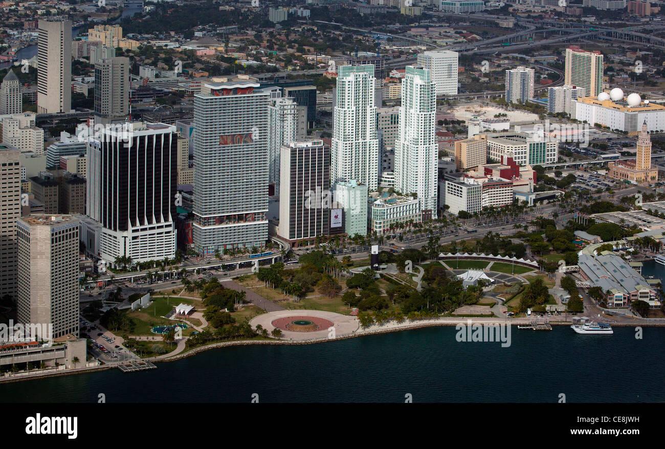 aerial photograph Miami, Florida - Stock Image