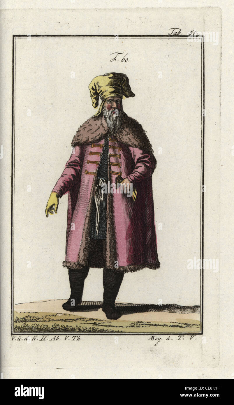 Prussian nobleman of the Middle Ages - Stock Image