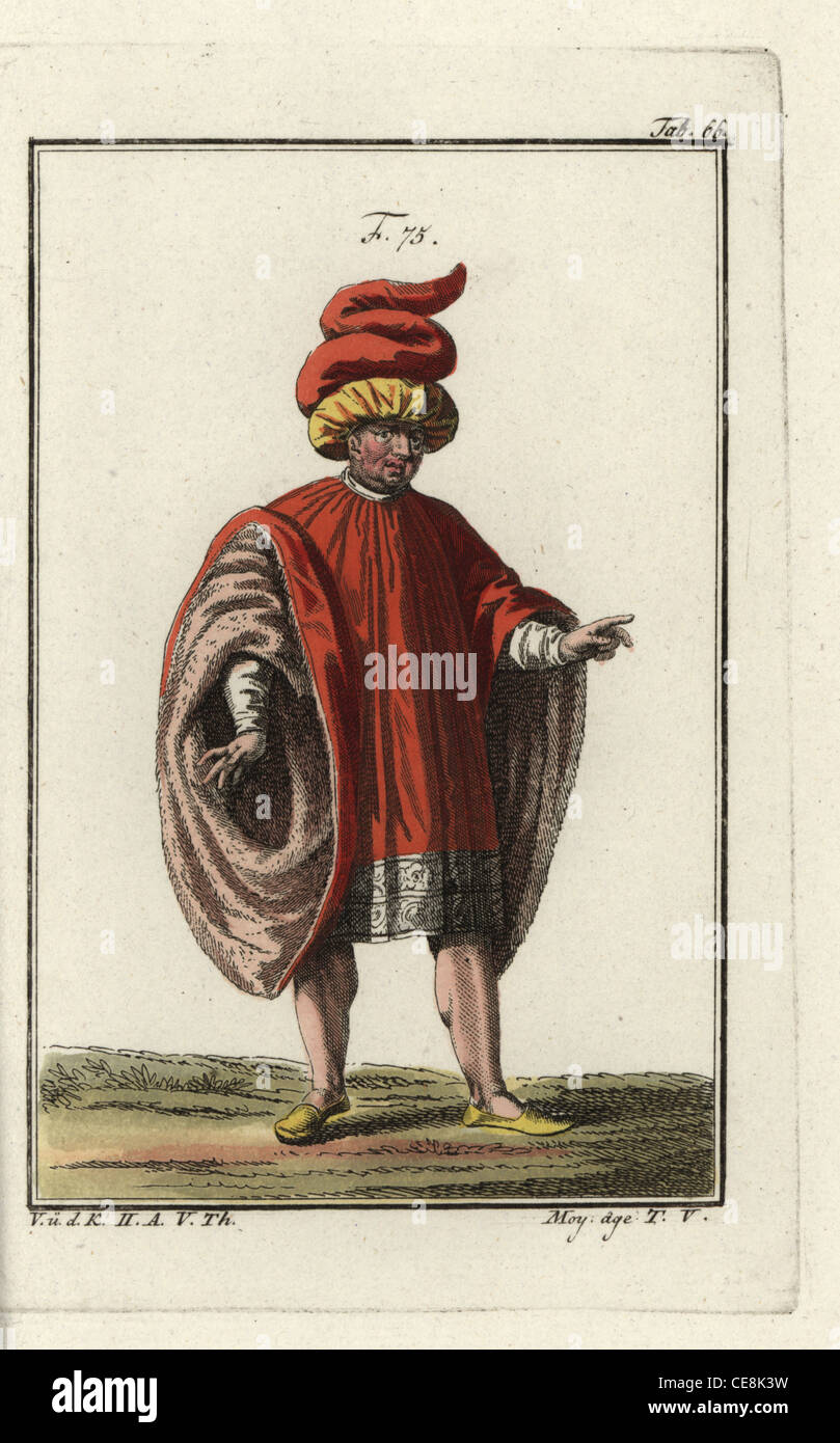 Nobleman of Venice and other Italian cities of the late middle ages. - Stock Image
