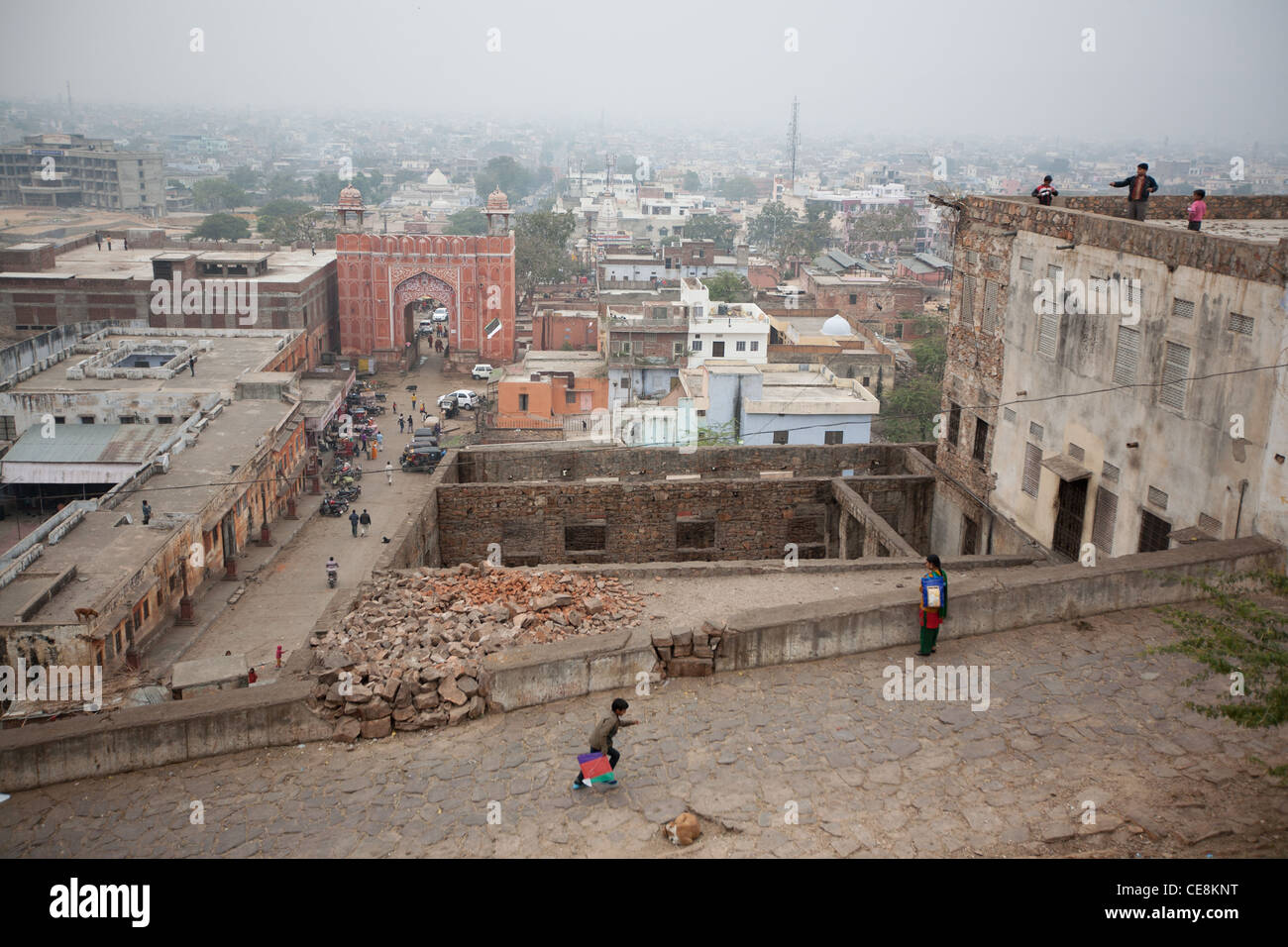 Suraj Pol in Galta, in Jaipur, in Rajasthan, India. - Stock Image