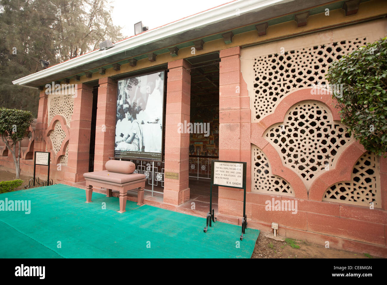Gandhi Smriti, the home of Mahatma Gandhi for last 144 days of his life, before he was shot on January 30th 1948, - Stock Image