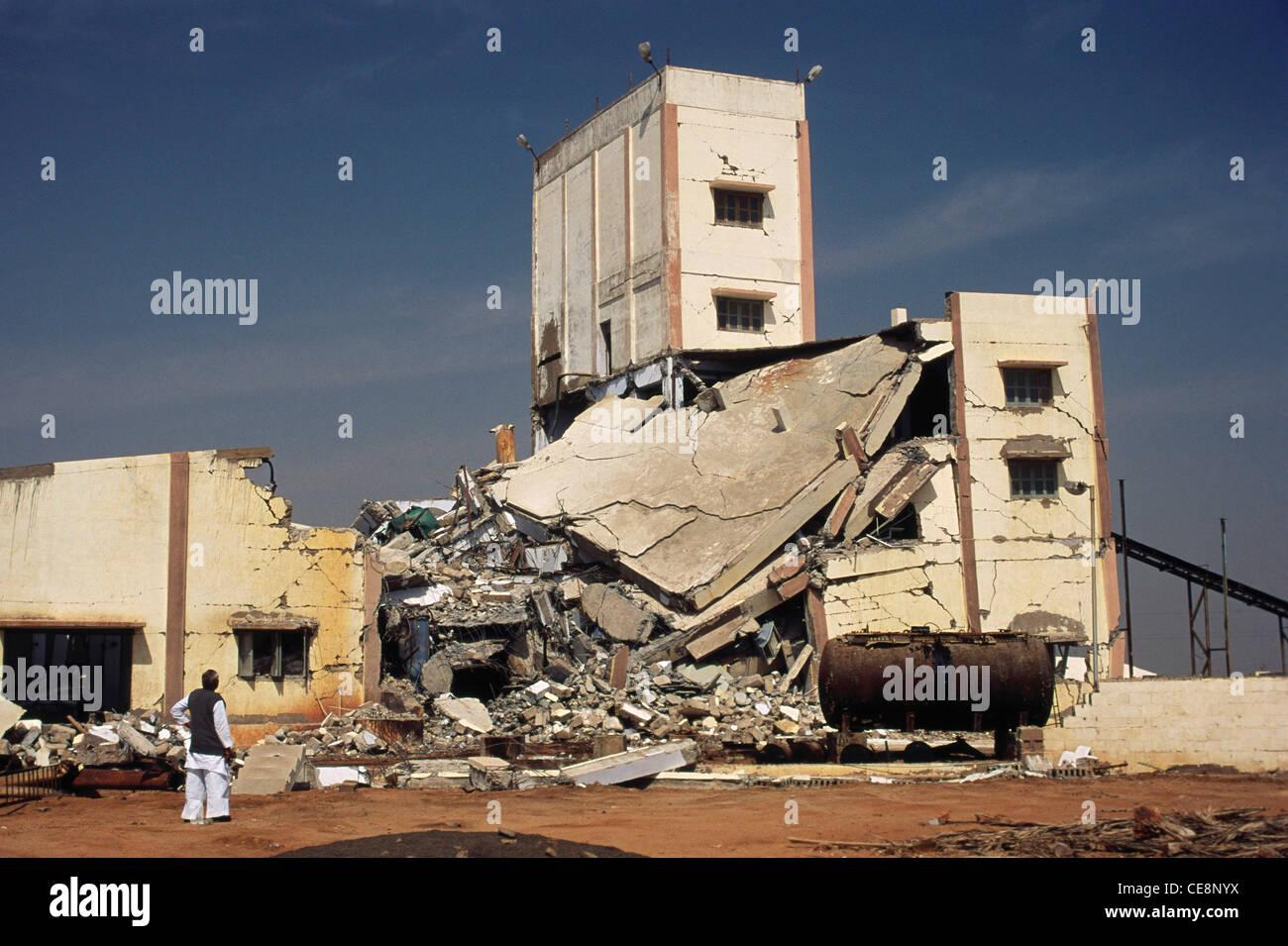 Rowhouse Bhuj Earthquake Damaged Factory Kutch Gujarat India