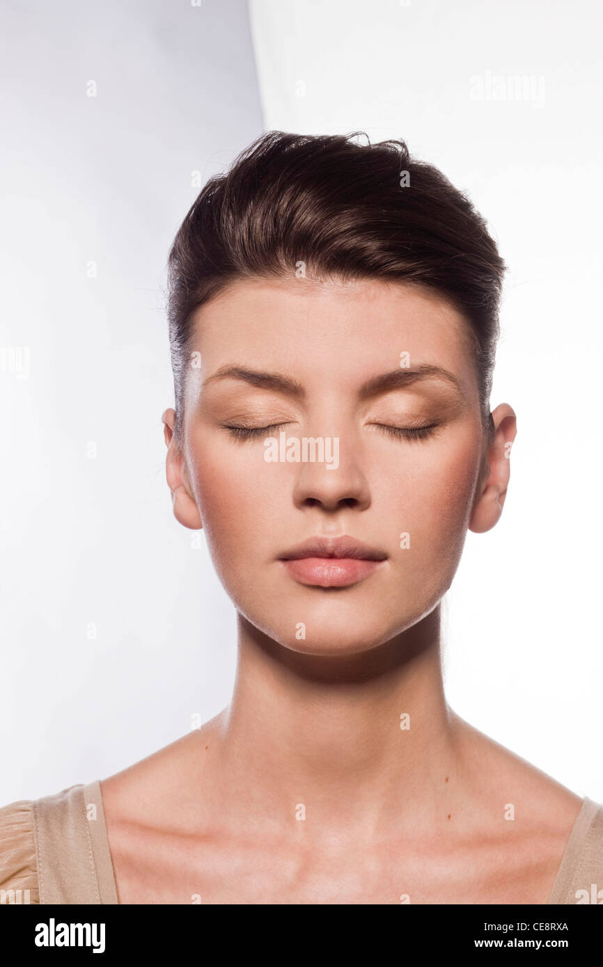 Step 4 - Eye shadows - Stock Image