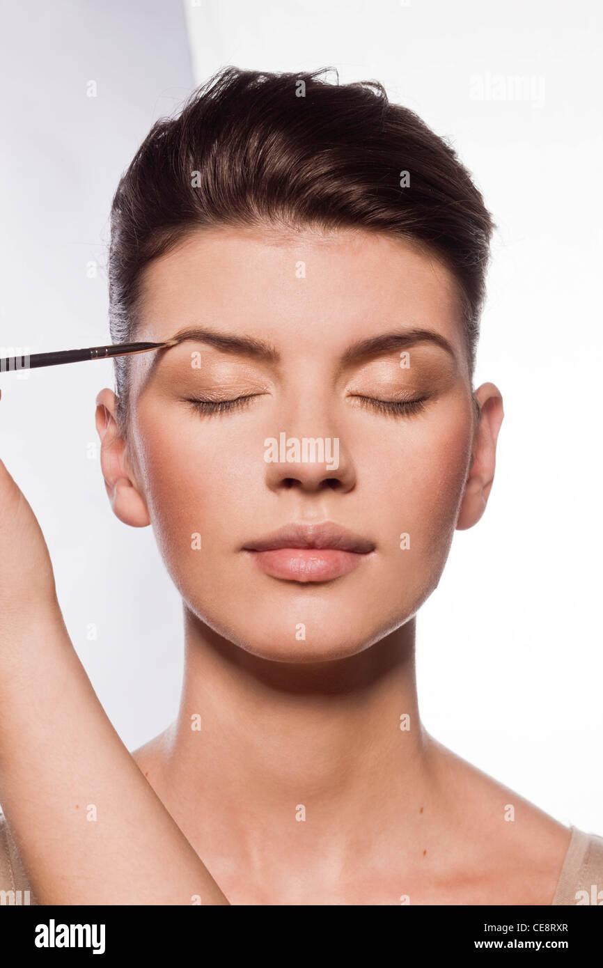 Eyebrows makeup - Stock Image