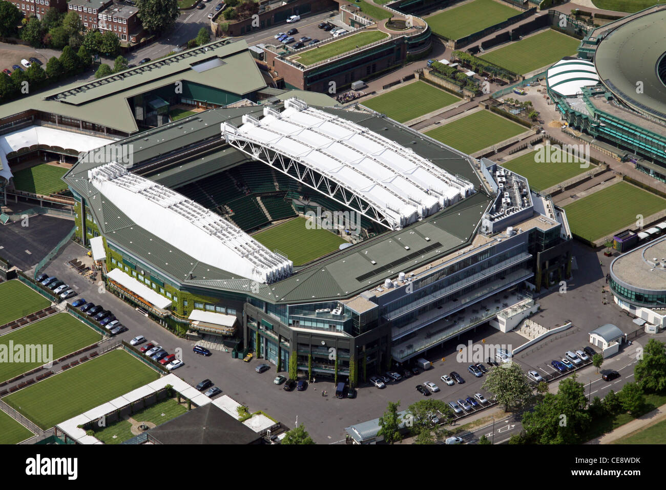 Aerial image, All England Tennis Club Centre Court, Wimbledon, London SW19 - Stock Image