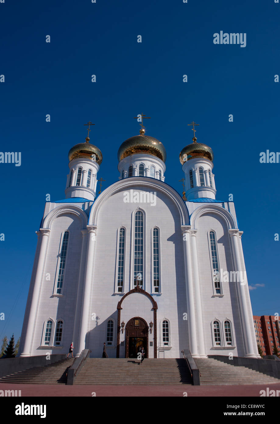 Russian orthodox church, Astana, Kazakhstan - Stock Image