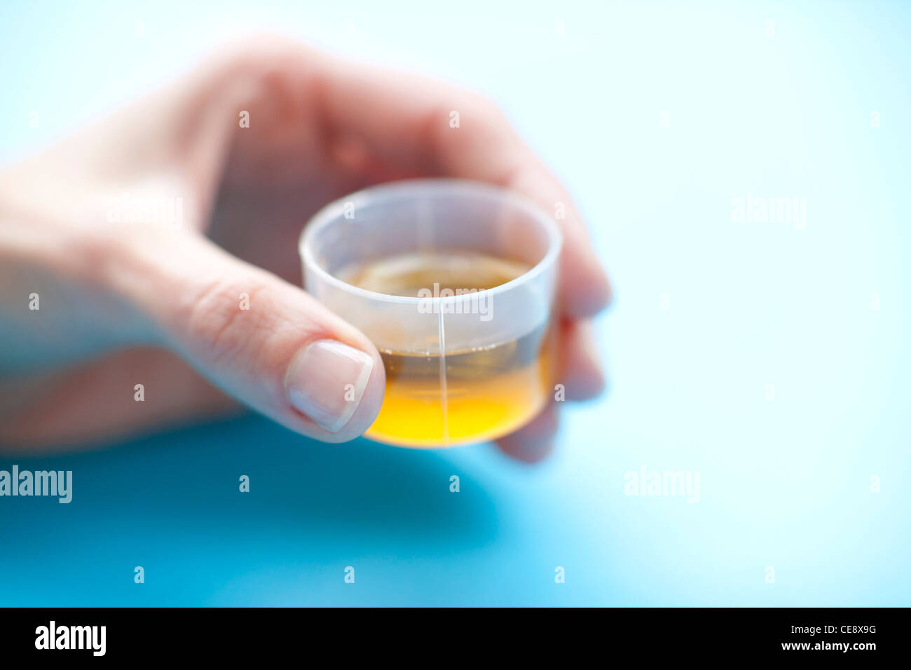 MODEL RELEASED. Dose of medicine. - Stock Image
