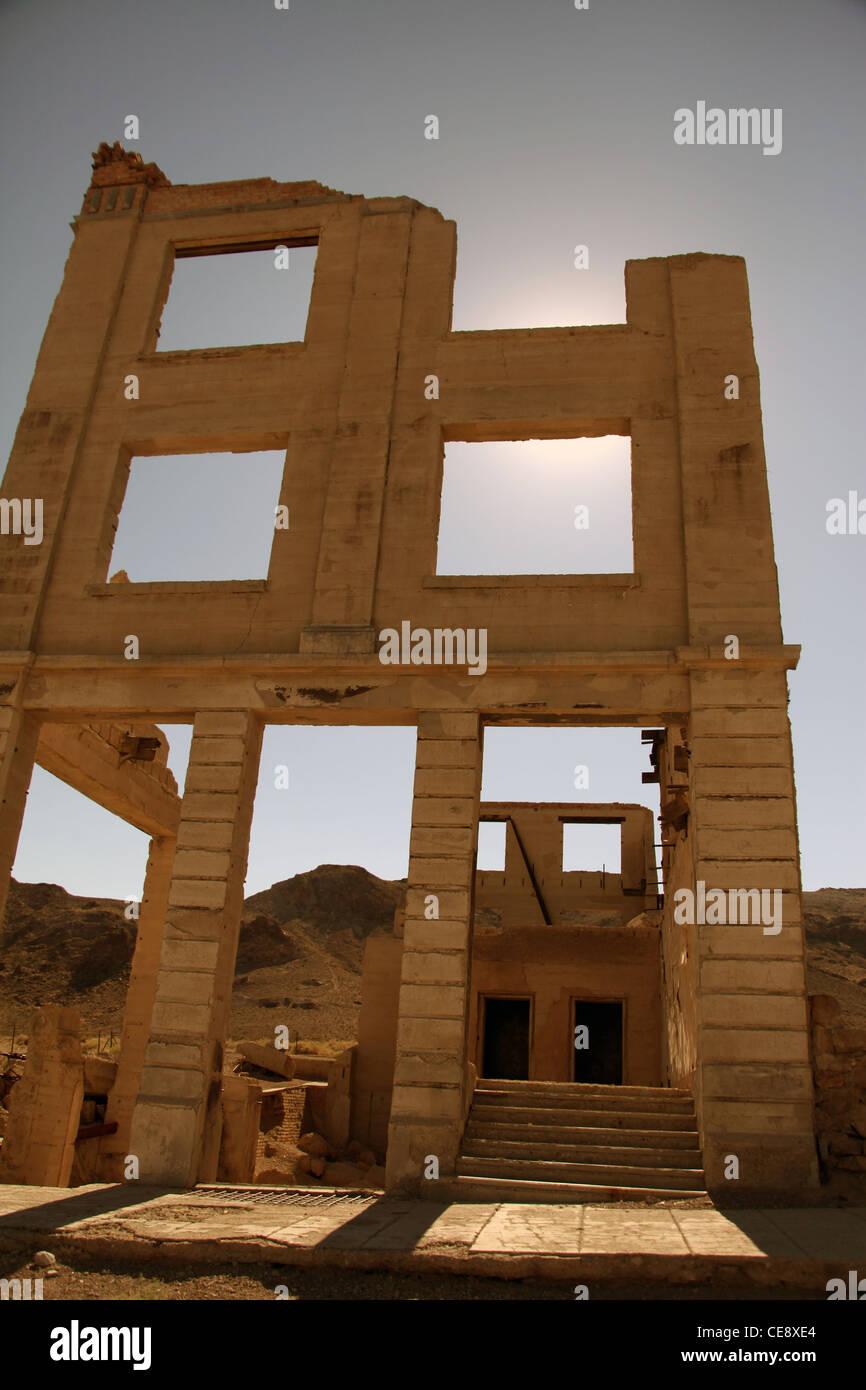 abandon bank in rhyolite Nevada - Stock Image