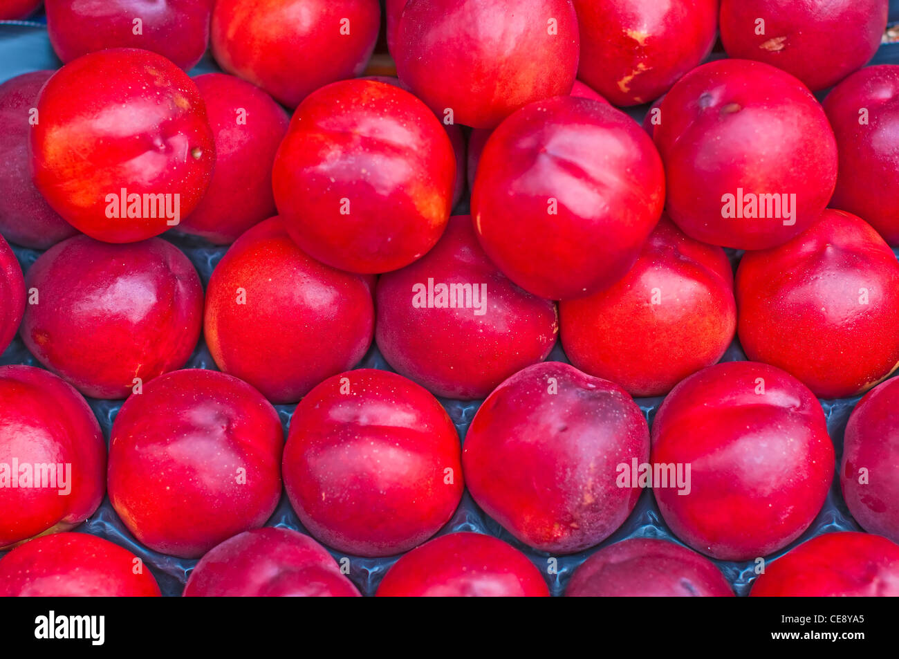 nectarine at street sale - Stock Image