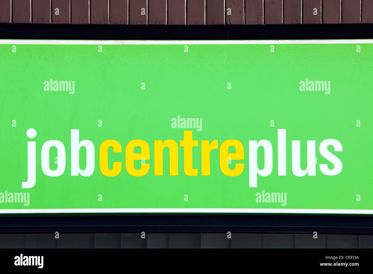 A job centre plus building on a high street in an English town Stock Photo