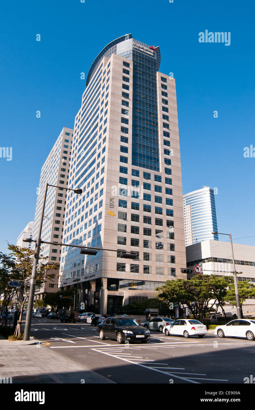 building an office. The Korea City Air Tower Is An Office Building. Building Was Completed In 2000. Seoul,