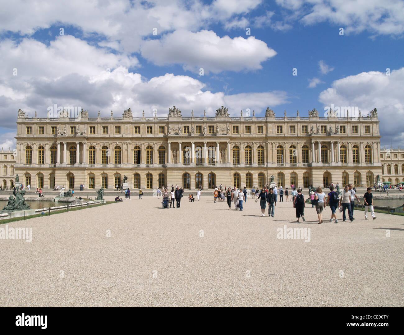 France Versailles Palace Panorama summer Stock Photo