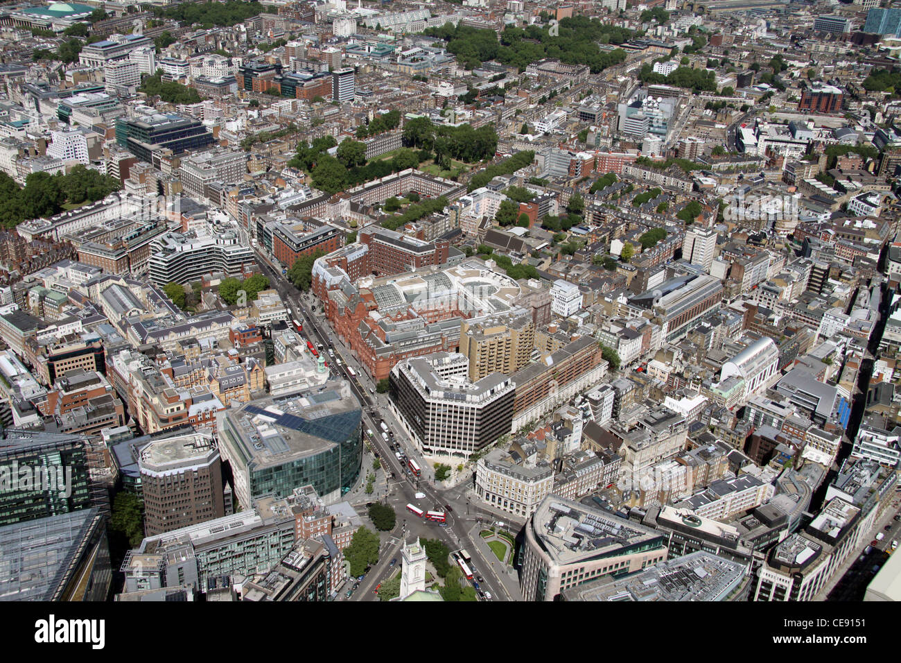 Aerial image of Holborn, London EC1 - Stock Image