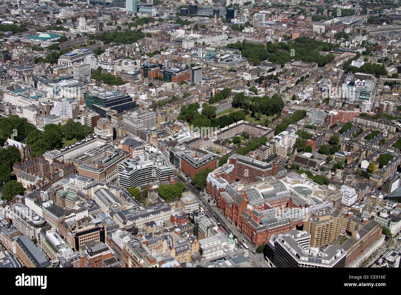 Aerial image of Gray's Inn, Holborn, London EC1 - Stock Image