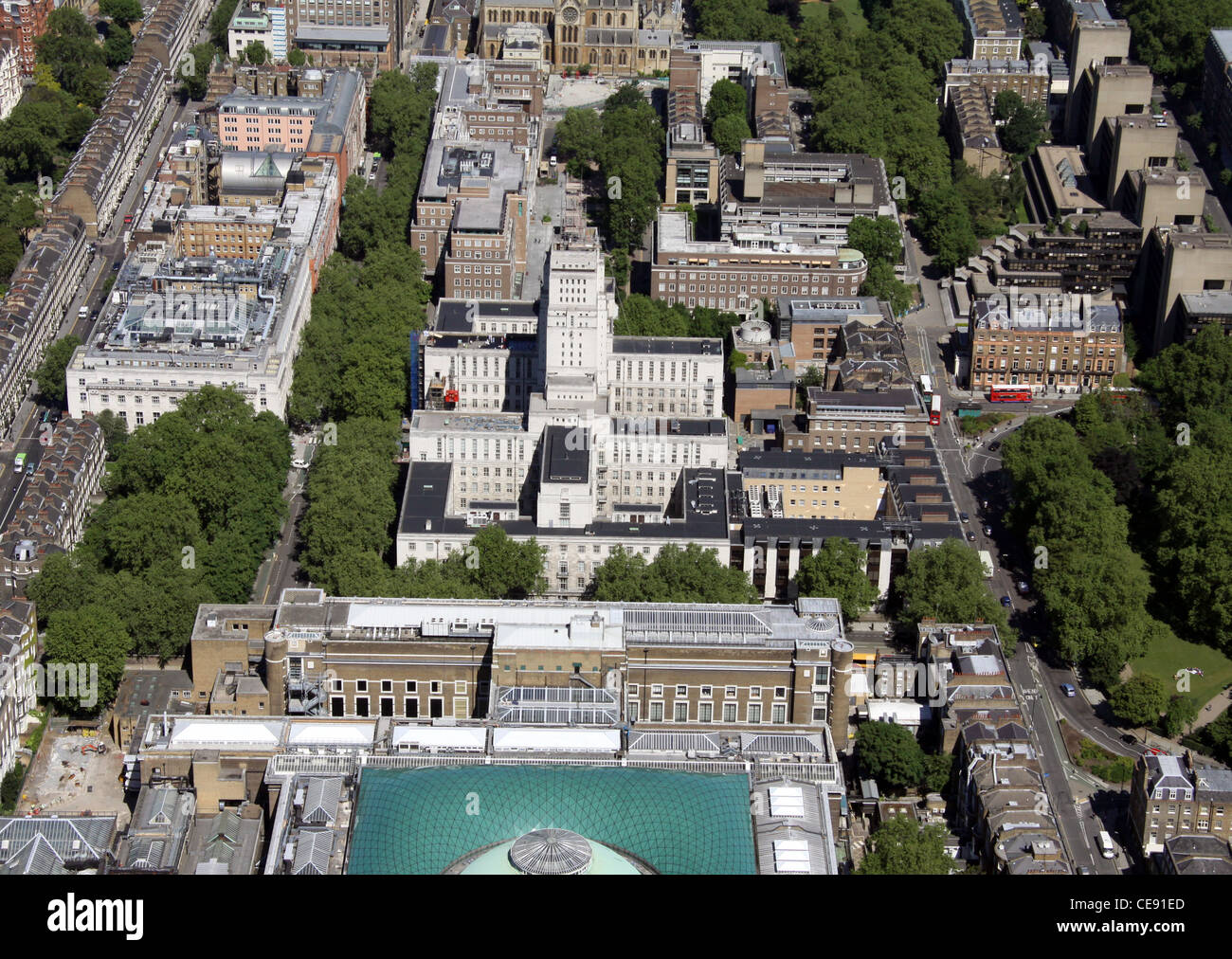 Aerial image of The University of London, Bloomsbury, London WC1 - Stock Image