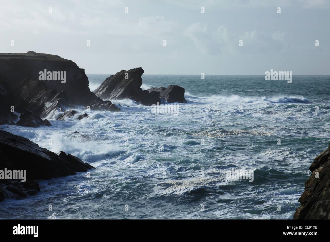 ireland, co,  kerry, dingle peninsula, west coast, beauty in nature, wild atlantic way - Stock Image