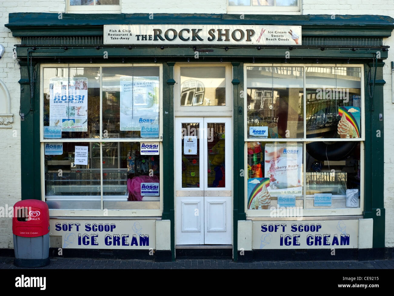 The facade of the Rock Shop in Leigh on Sea in Essex - Stock Image