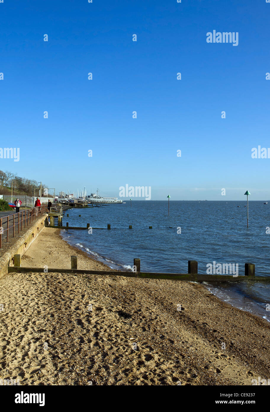 Bell Wharf beach at Leigh on Sea - Stock Image
