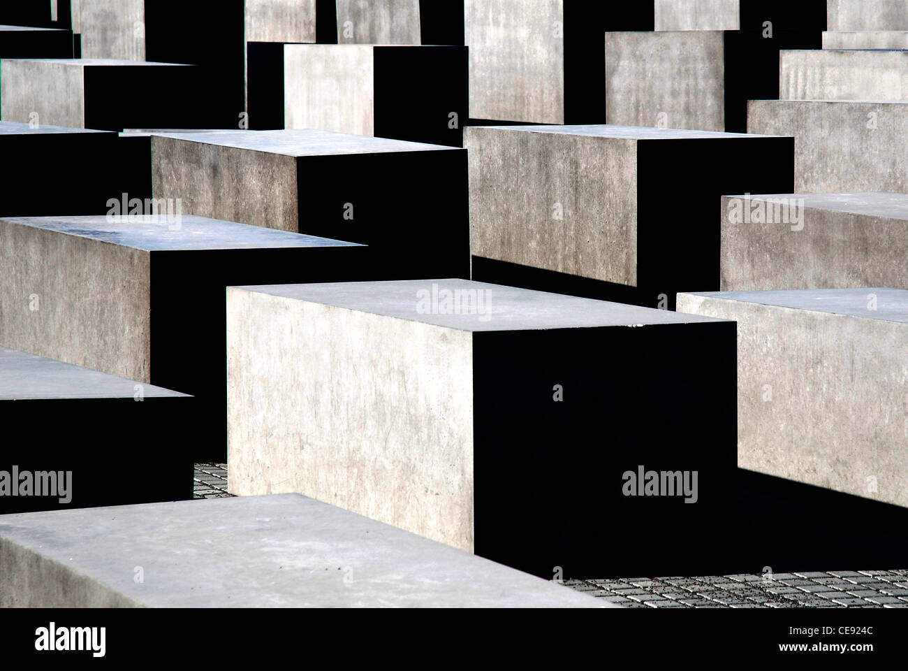Memorial to the Murdered Jews of Europe in Berlin. Stock Photo