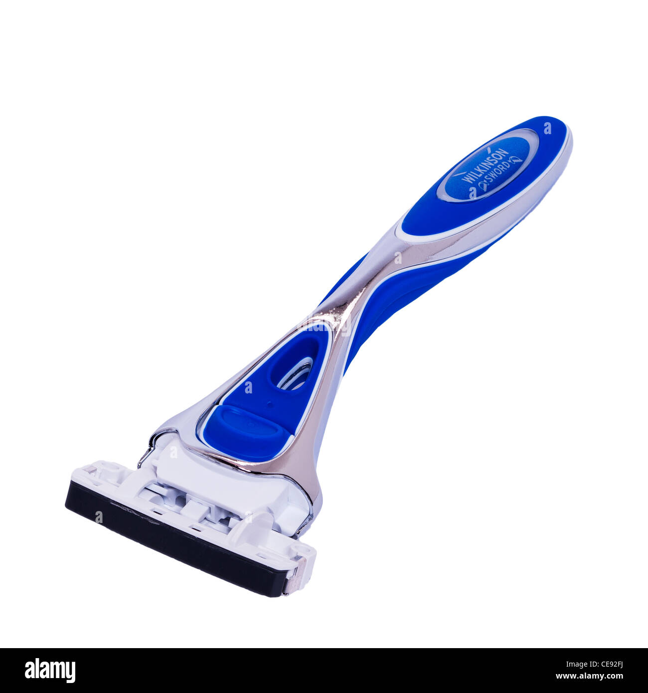A Wilkinson Sword razor for men on a white background - Stock Image