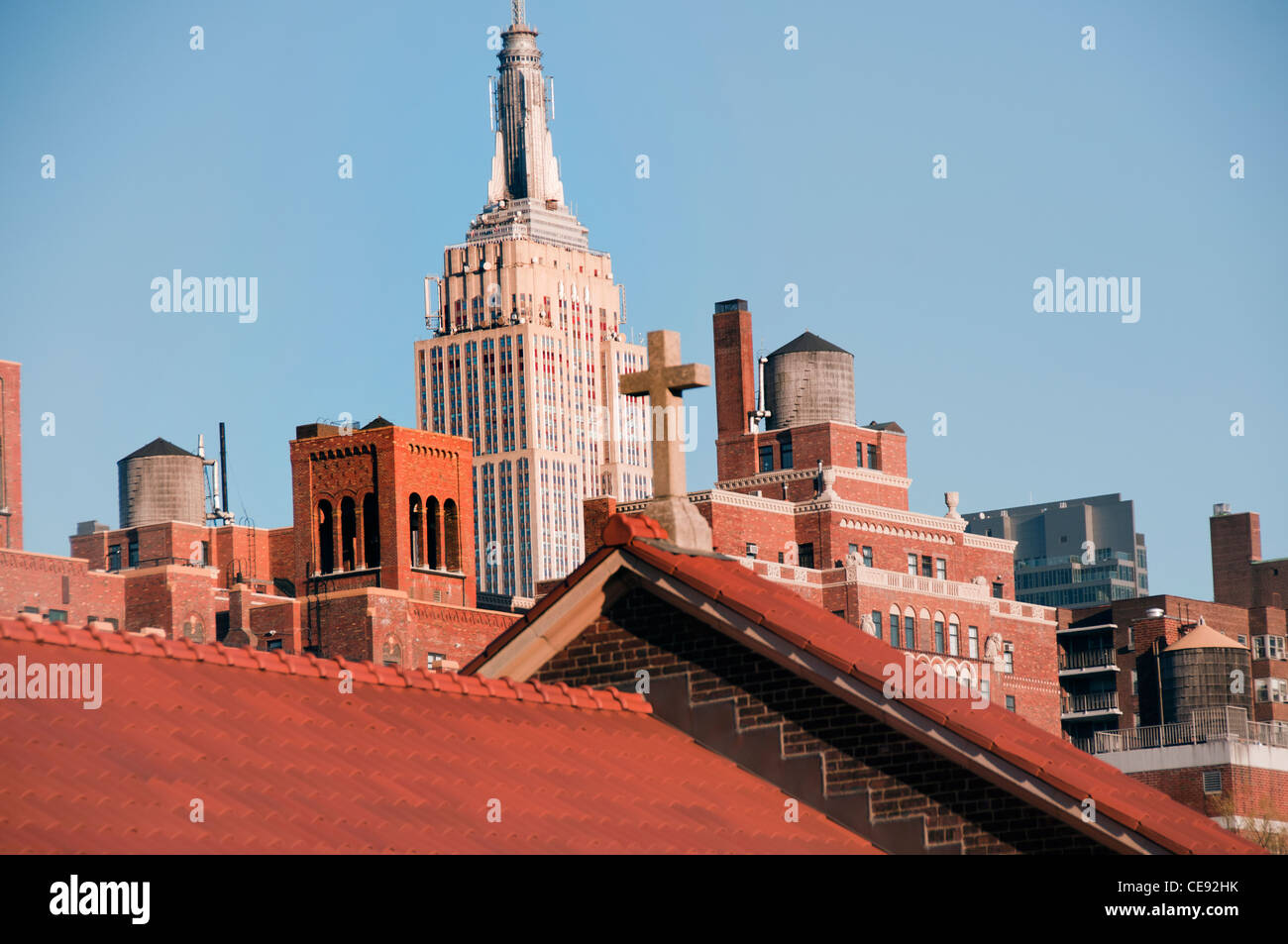 Manhattan New York City photographed from the high line. - Stock Image