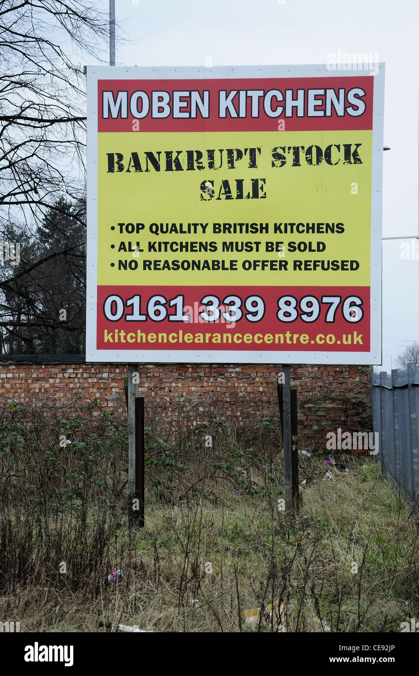 Bankrupt stock sale sign - Stock Image