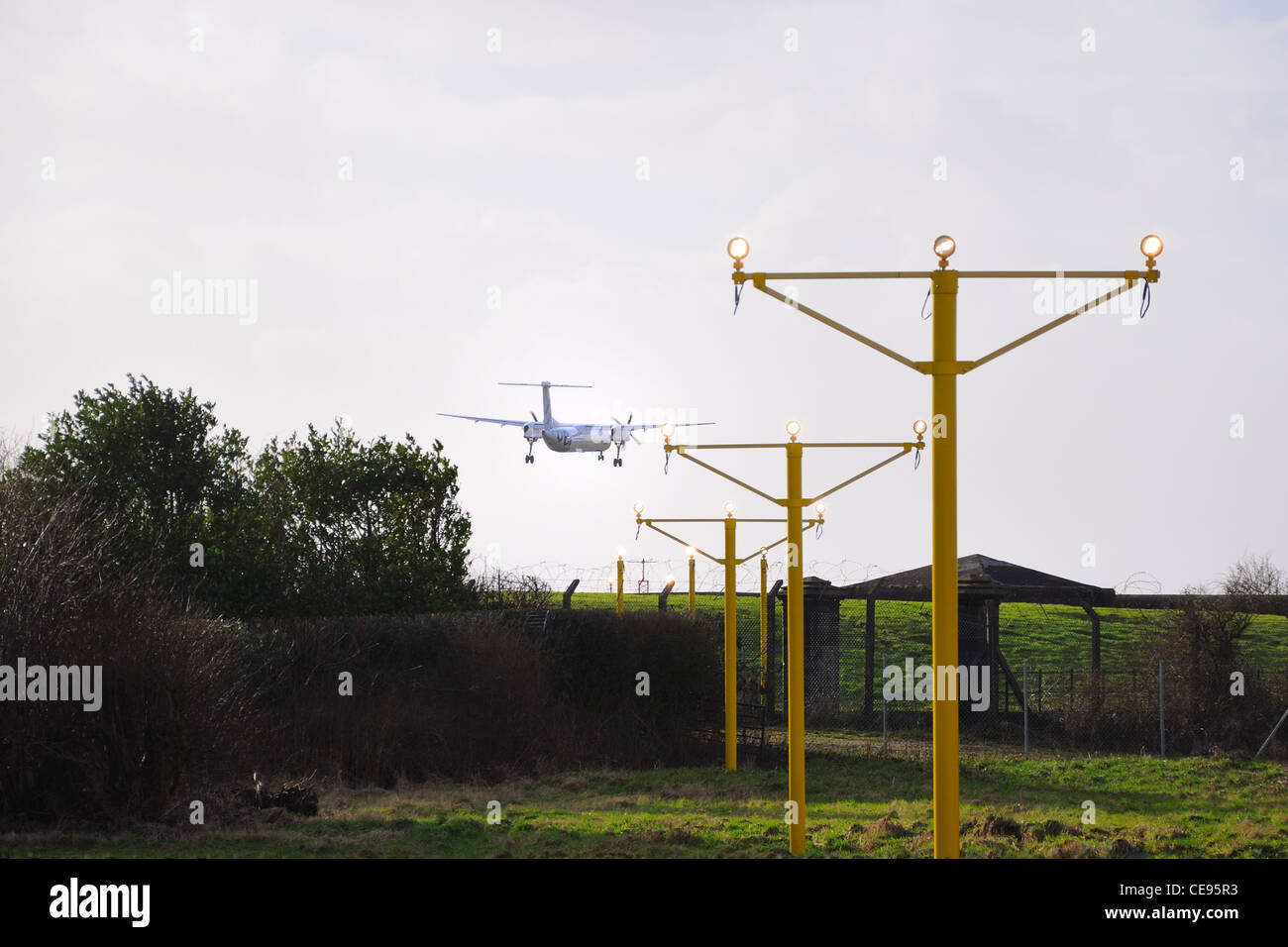 A Plane Tries To Land In A Crosswind At Glasgow International