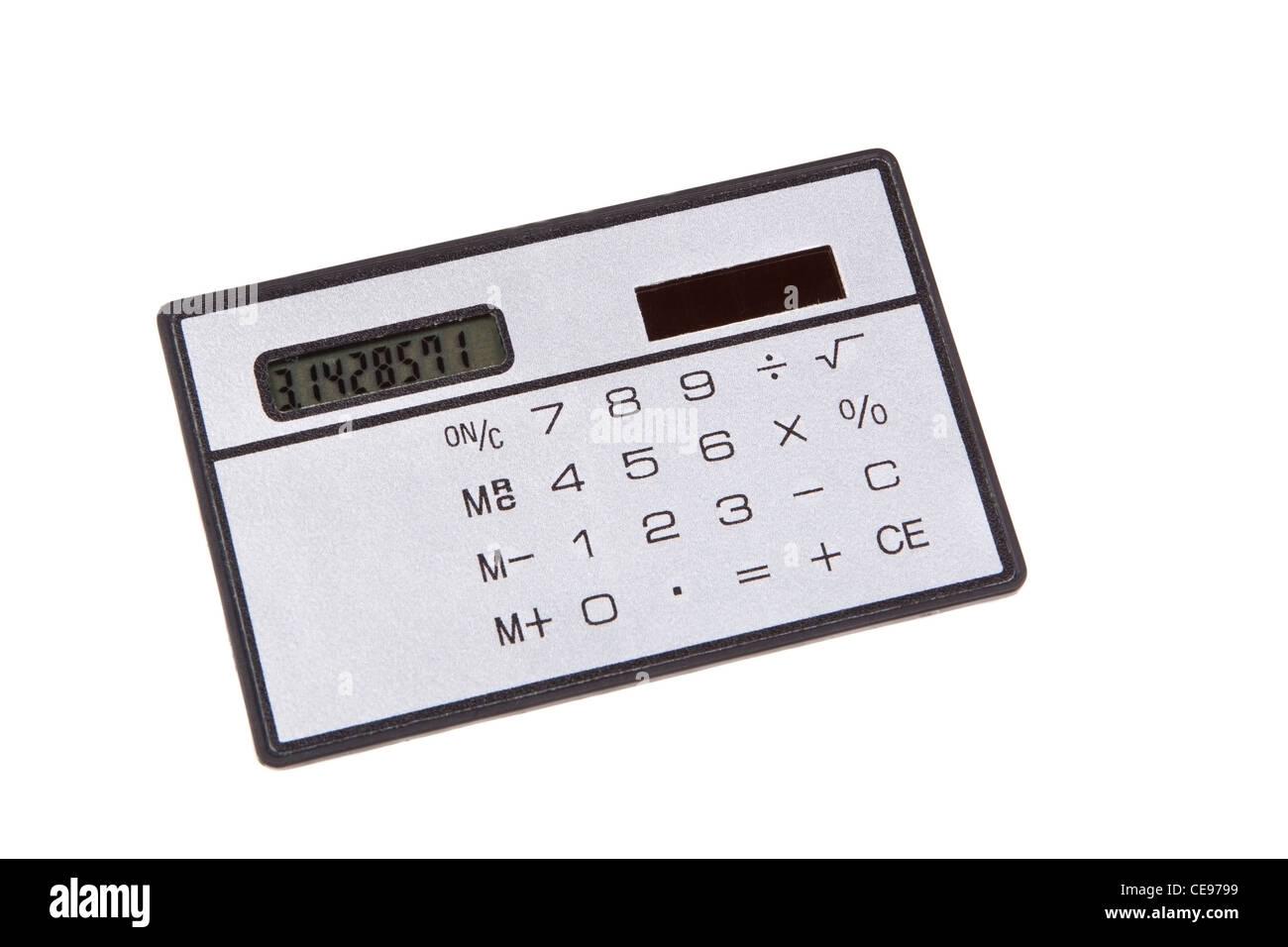 Pocket Calculator Isolated on White Stock Photo