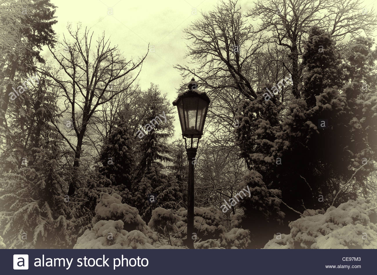 Vintage Lamppost - Stock Image