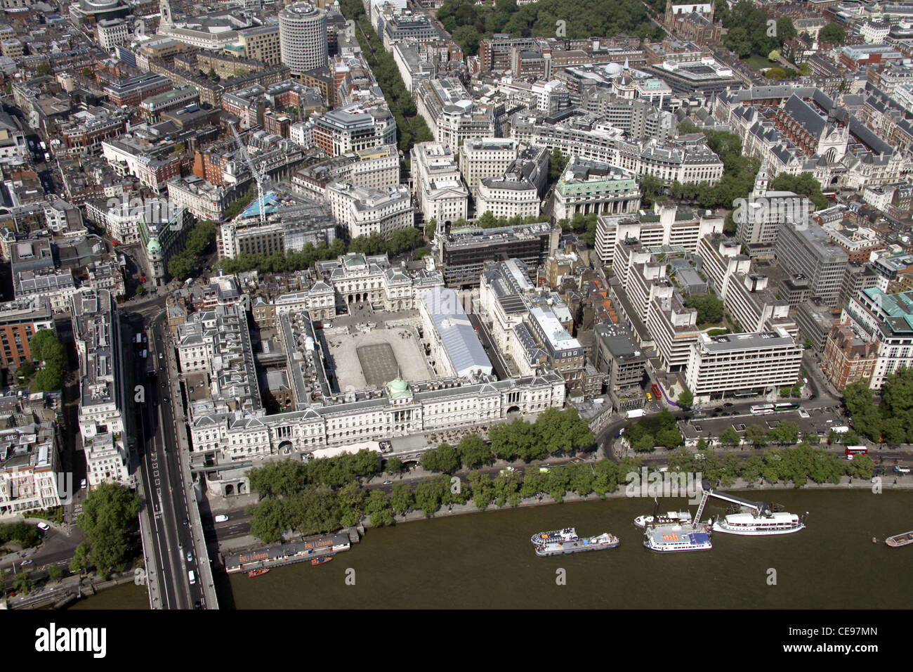 Aerial Image Of Somerset House On Victoria Embankment London Wc2