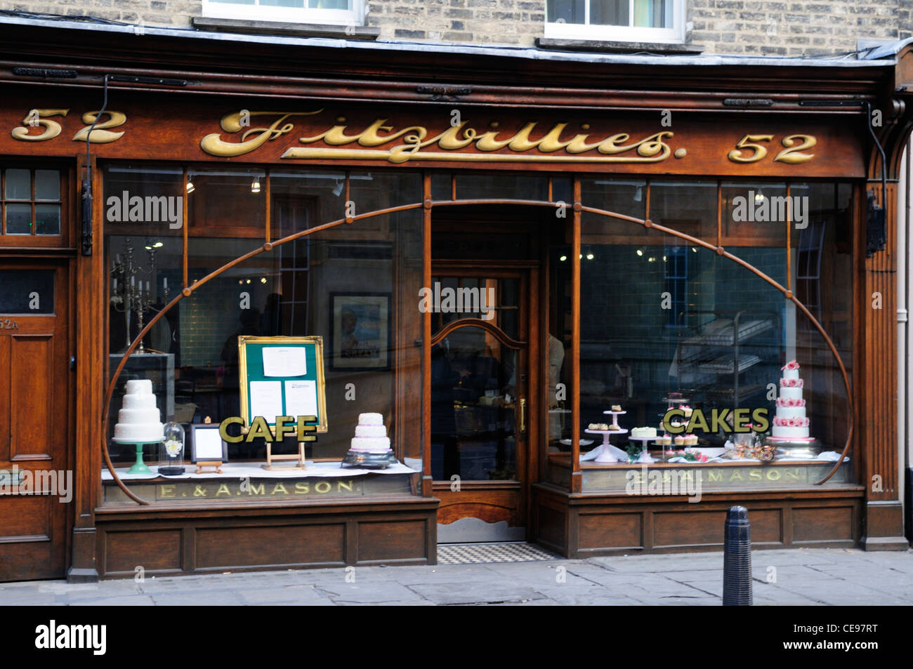 Fitzbillies Cafe, Trumpington street, Cambridge, England, UK Stock Photo