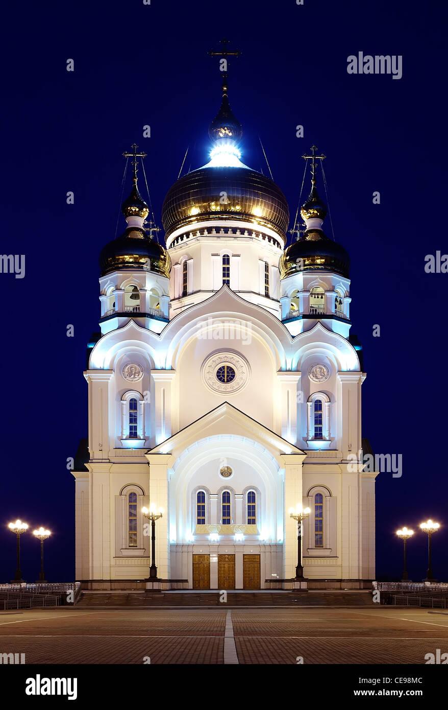 Orthodox Church in Khabarovsk, Russia - Stock Image