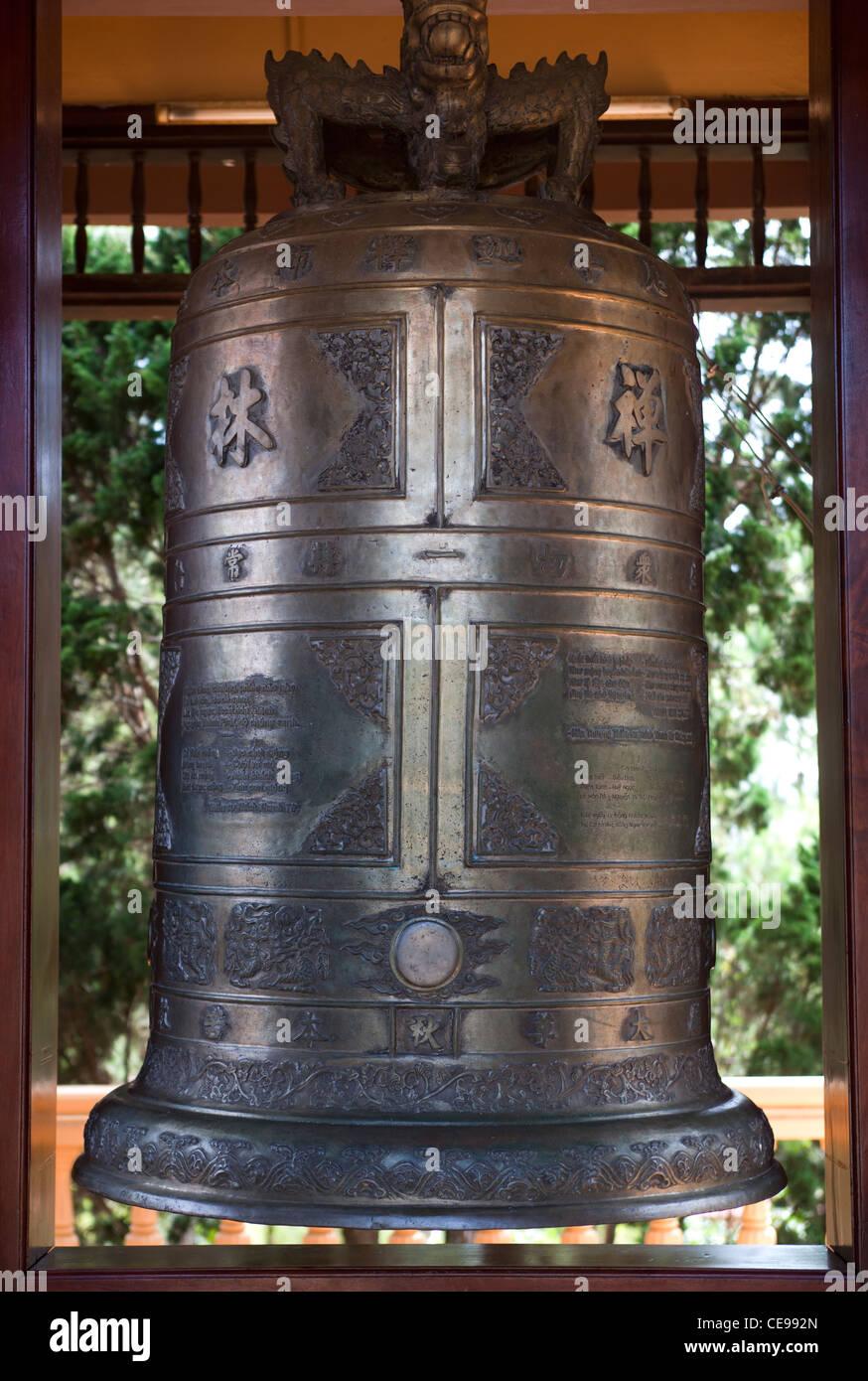 Ceremonial Bell Trúc Lâm Temple Dalat - Stock Image