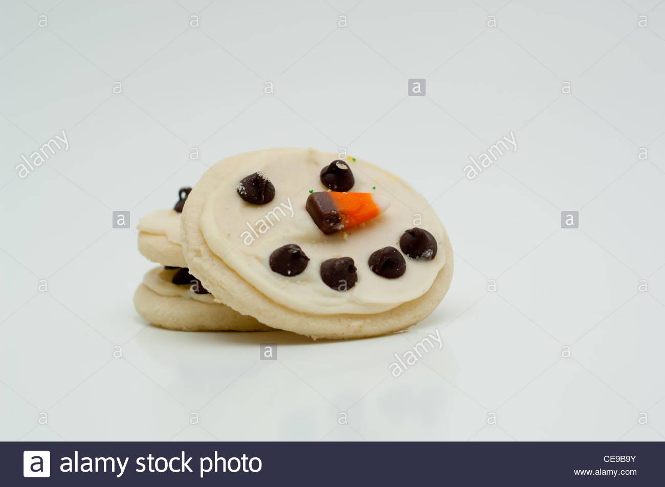 Snowman cutouts - Stock Image