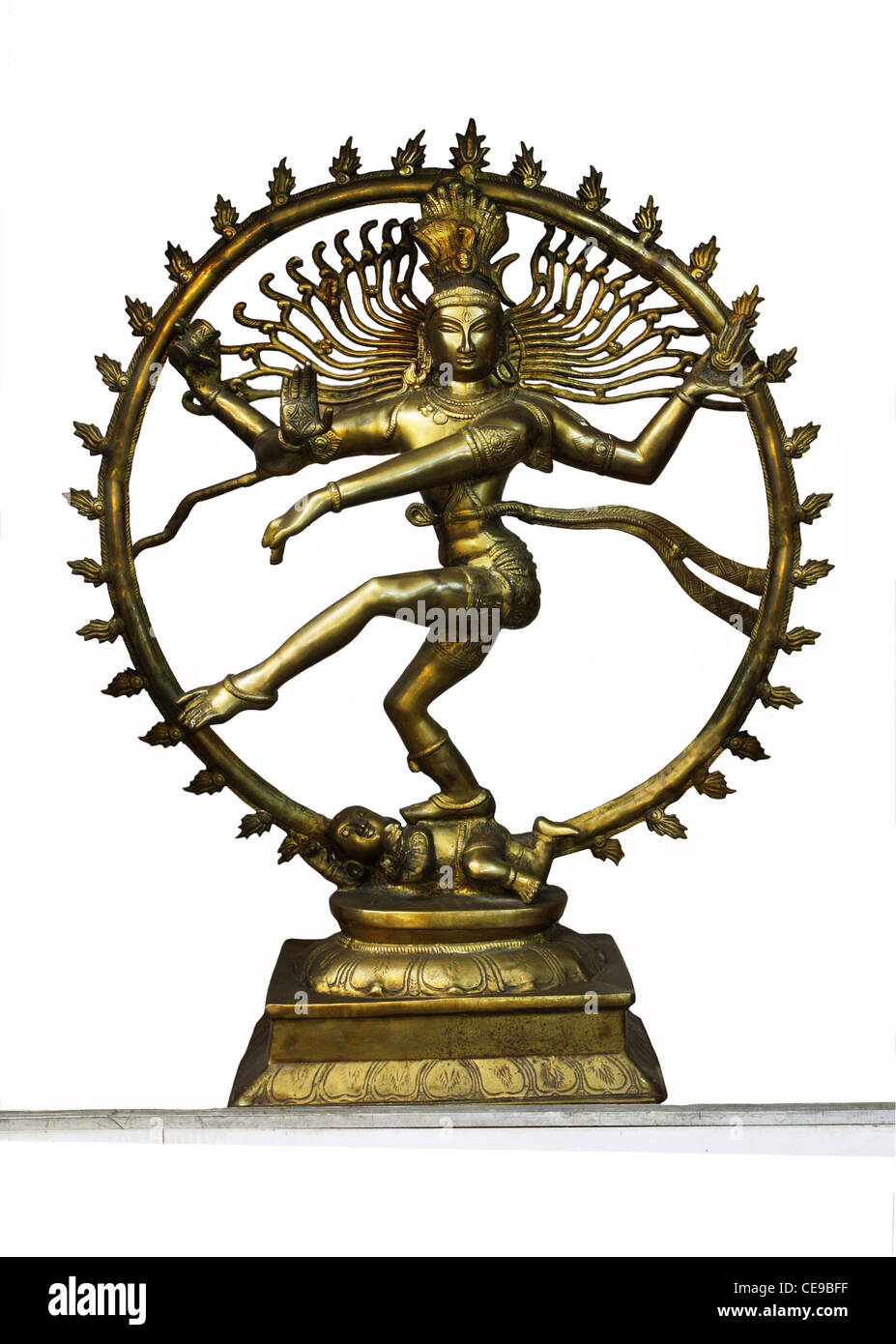 Shiva , the lord of dance depicted in the Nataraja statue - Stock Image