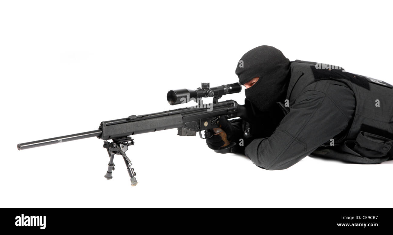 Police, SWAT Team. Police special operations unit, fights against , terrorism, hostage-takers, organized crime. - Stock Image