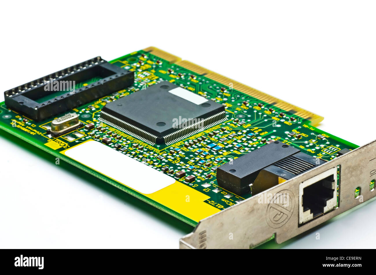 circuit board of an isdn internet card - Stock Image