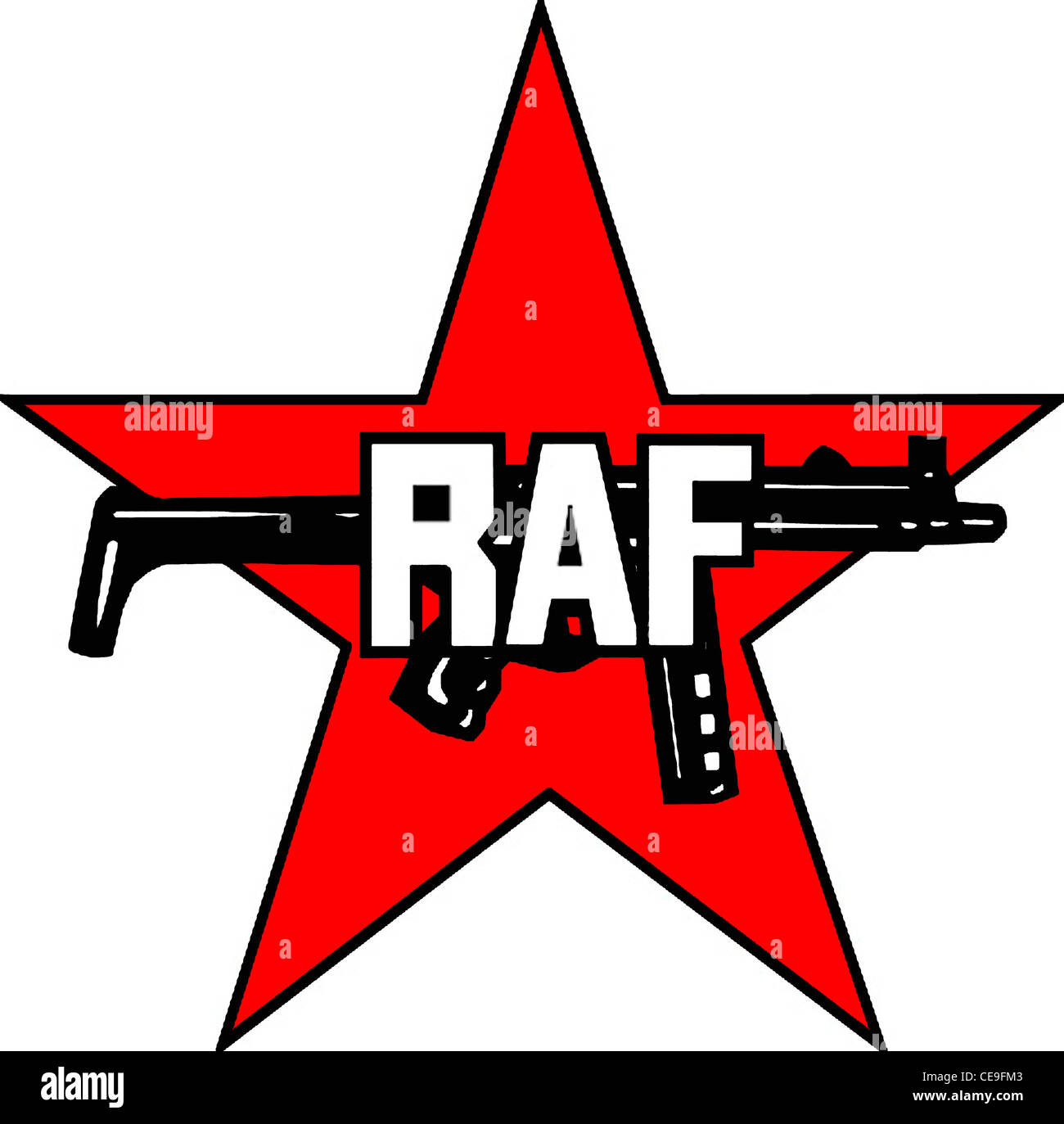 Logo of the terrorist Red Army Faction RAF. - Stock Image