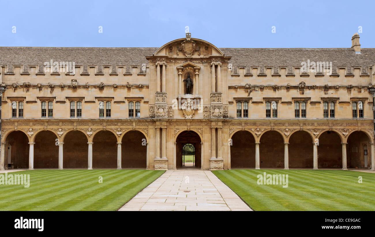 UK Oxford St. John's College Part Of Rear Quadrangle - Stock Image