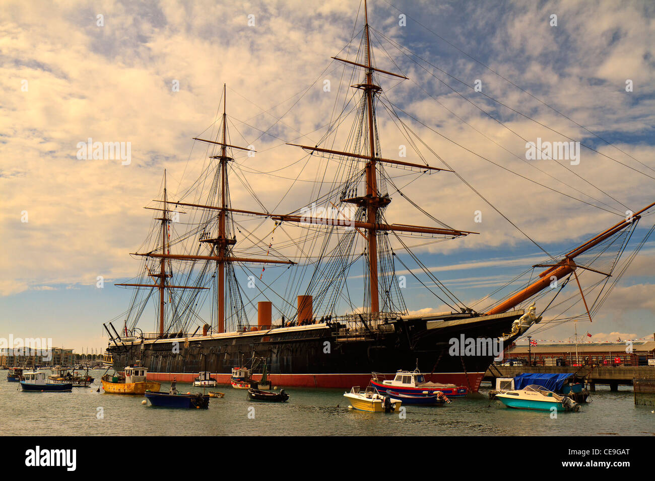 UK Hampshire HMS Warrior - Stock Image