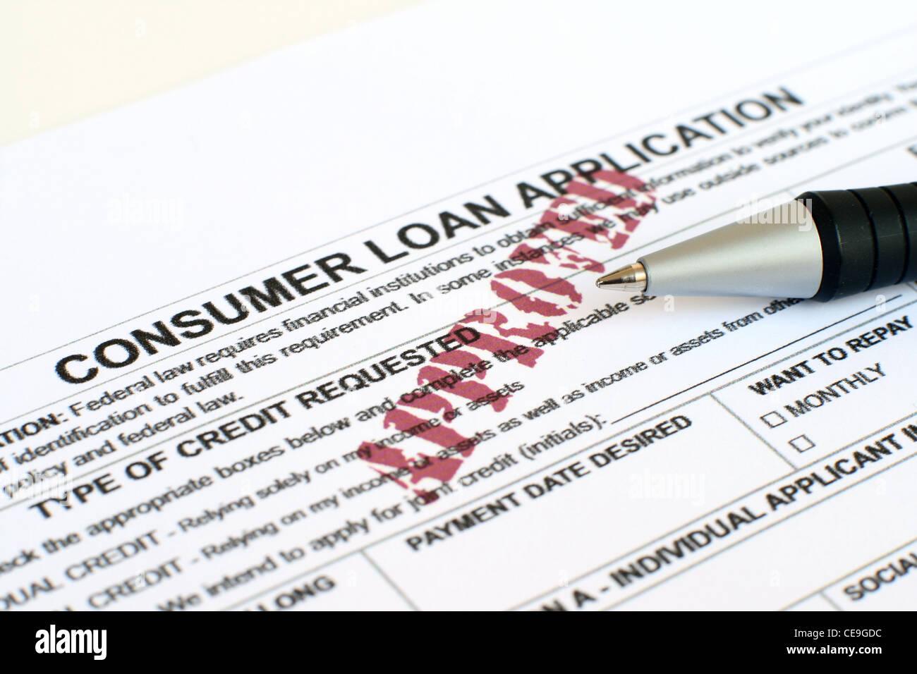consumer loan application stock photo 43236408 alamy
