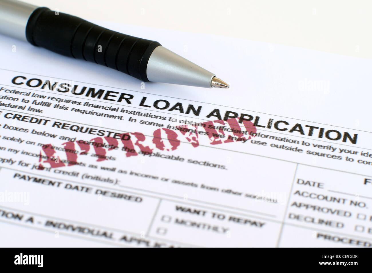 consumer loan application stock photo 43236419 alamy