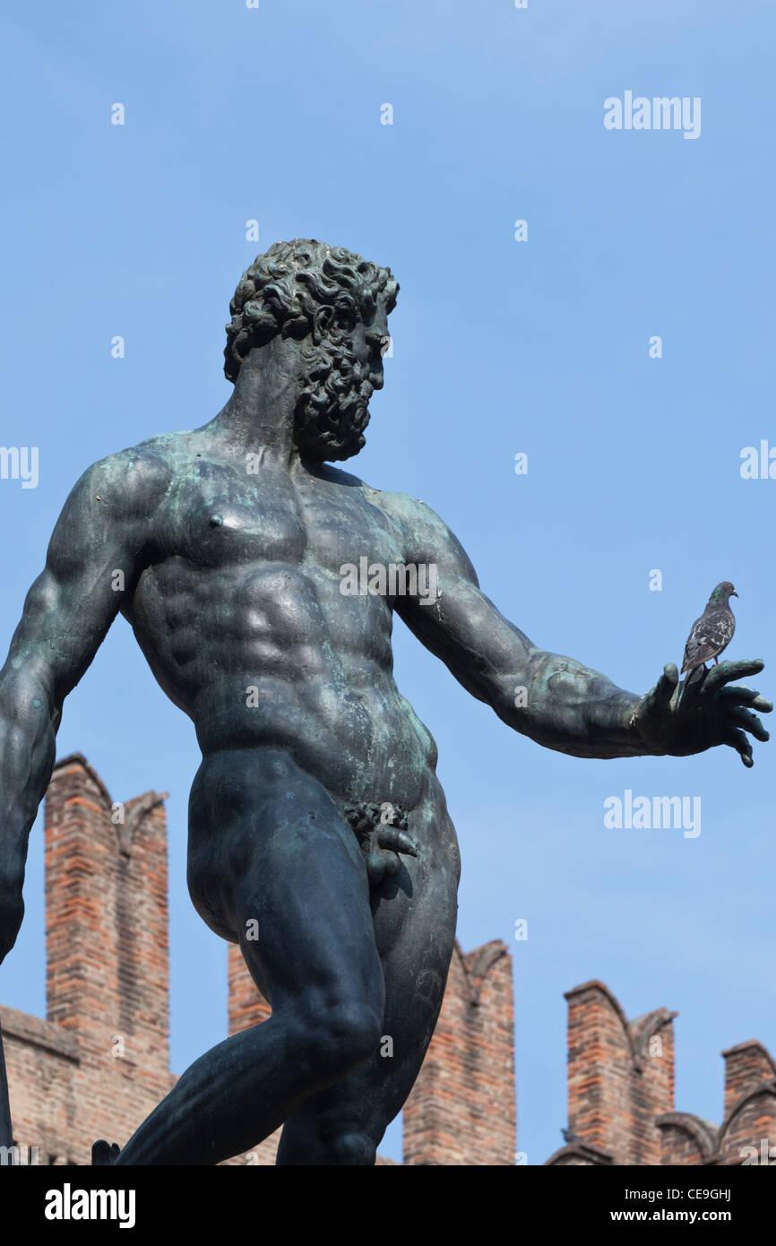 Nettuno (Neptune) Statue Piazza Maggiore Bologna Emilia-Romagna Italy - Stock Image