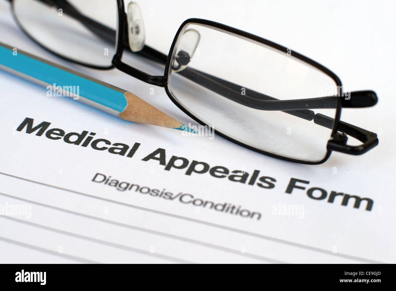 medical appeals form Stock Photo