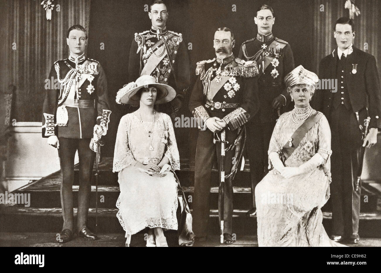 Royal family of King George V of England - Stock Image