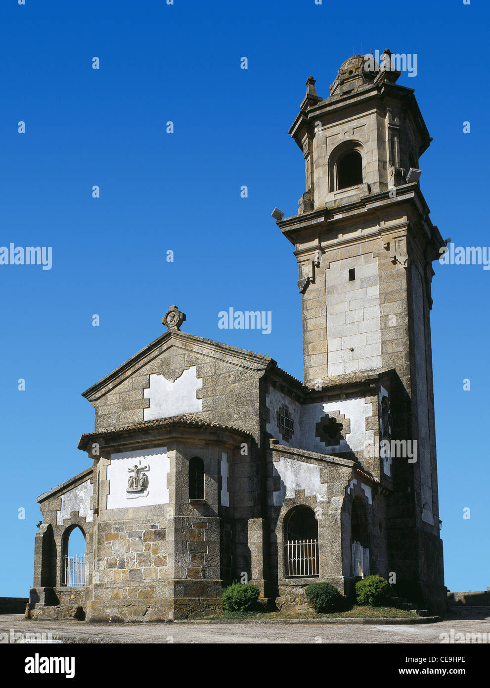 Spain. Vigo. Shrine of Our Lady of Guidance. Built in 1951 by Manuel Gomez Roman. Exterior. - Stock Image