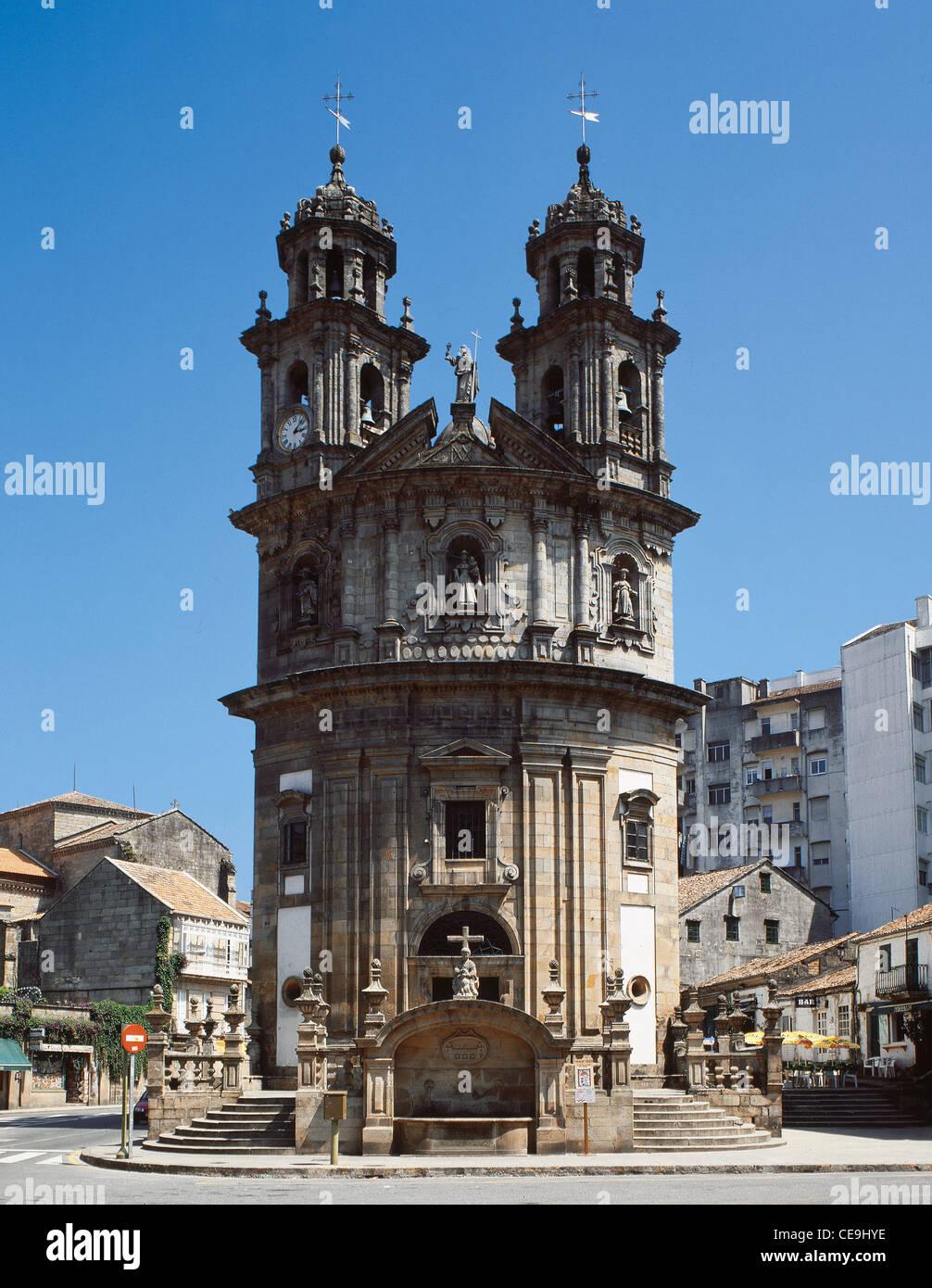 Spain. Pontevedra. Chapel of the Pilgrims. 1778. Built by Antonio Scouto. Exterior. - Stock Image