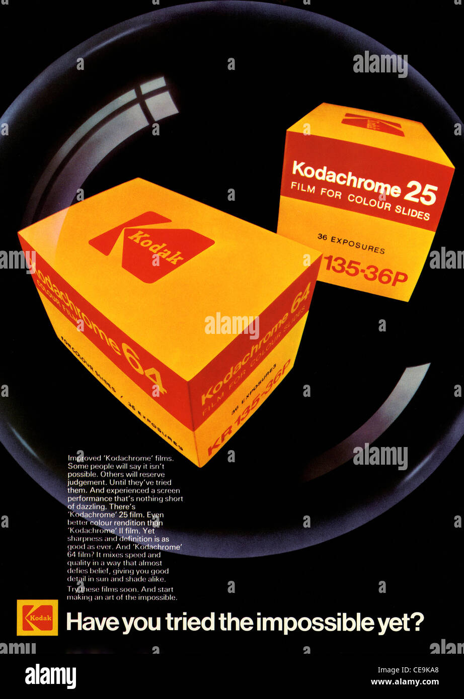 70's Poster and magazine page ad launching Kodachrome 25 and