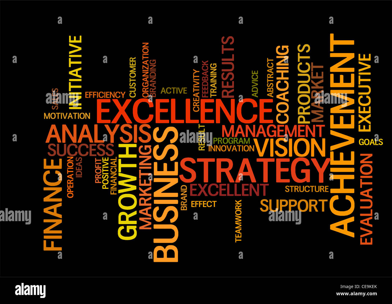business word cloud - Stock Image
